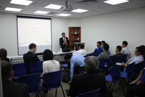 Director of Digital Orthodontics, Ari Sciacca giving a talk in Singapore